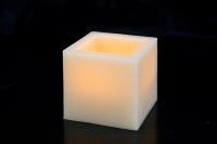 Свеча восковая с пультом Куб (малый)