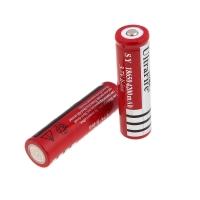 Аккумуляторная батарейка 18650 Ultra Flre (красная)