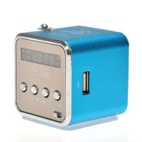 Колонка аудио с FM мини TD-V26 с антенной (голубая)