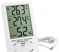 Цифровой термометр + гигрометр выносной