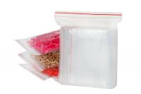 Пакет zip lock 7 х 5 см (с красной полосой) 100шт