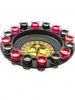 """Пьяная игра """"Алко-Вегас"""", рулетка черная d=29 см, 16 стопок"""
