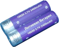 Аккумуляторная батарейка 18650 3.7V 2400mAh (сиреневая)