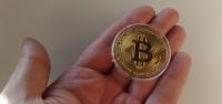 Монета сувенирная под Биткоин