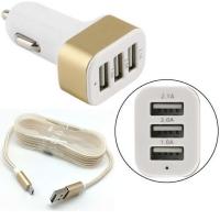 Адаптер-разветвитель USB NOKOKO 3в1 (авто, цветные)