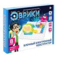 ЭВРИКИ Конструктор блочный-электронный 59 схем, 19 деталей