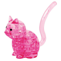 Пазл 3D кристаллический, «Кот», 21 деталь