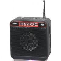 Колонка аудио с FM WS-918 (квадрат.\черная)