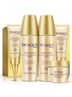 Набор косметических средств по уходу за кожей лица с муцином улитки (5 средств) Bioaqua