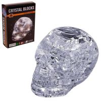 3D пазл кристаллический «Череп, 49 деталей, световые эффекты
