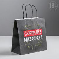 Пакет подарочный «Сюрпрайз мазафака», 22 х 22 х 11 см