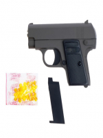 Детский пистолет пневматический V6, металлический