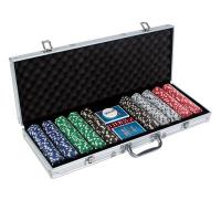 Покер в кейсе 500 шт фишки 20.5х56 см