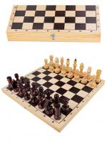 Шахматы гроссмейстерские (доска дерево 43х43 см, фигуры дерево, король h=10.6 см)