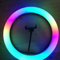 Световое кольцо 33см РАДУГА со штативом, мультицвет