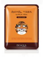 Увлажняющая эластичная тканевая маска для лица с изображением тигра Bioaqua